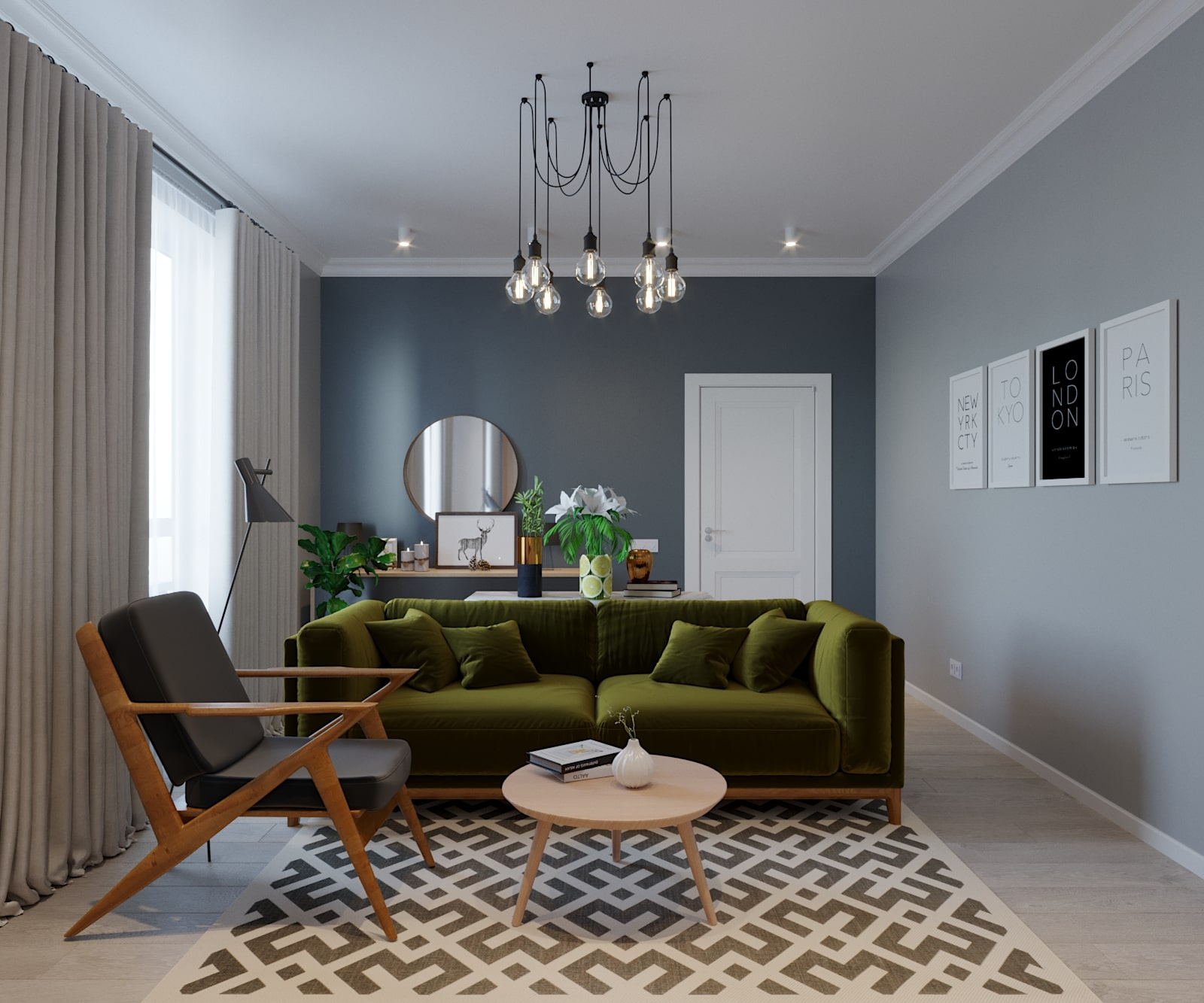 Дизайн-проект интерьера квартиры в г. Сестрорецк